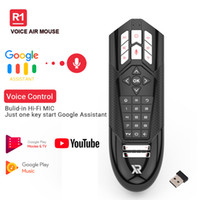 R1 Google Voice Air Mouse 2.4G Wireless Gyroscope Remote Control for Android TV Box Controller Infrared IR Learning Keys 6 Axis Gyro