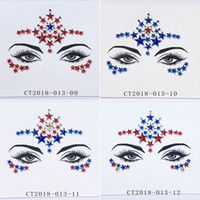 diamond tattoo stickers 2021 - Diamond Sticker Glitter Crystal Tattoo Stickers For Women Face Forehead Paster Wedding Decorations 23 styles RRA3720