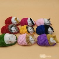 Wholesale cat plush slippers for sale - Group buy Creative Plush Stuffed Animals Toy Lifelike Simulation Slipper Cat Hot Sale Talking Ornaments For Birthday Party Gift hy dd