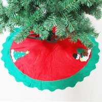 Wholesale jean aprons resale online - Christmas Skirt Tree Apron cm Scene Decoration Accessories XZH9