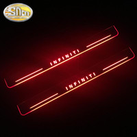 Wholesale pedal car resale online - SNCN Waterproof Acrylic Moving LED Welcome Pedal Car Scuff Plate Pedal Door Sill For Infiniti QX80