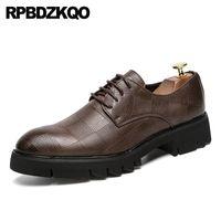 Wholesale wide dress shoes men for sale - Group buy brown oxfords wingtip tassel plus size loafers designer men shoes casual leather tan crocodile dress brogue alligator