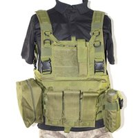 Discount black molle tactical vest New Tactical Vest Army Combat Paintball MOLLE Carrier Outdoor Combat Hunting Vest Black Green Tan