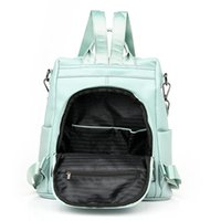 Wholesale korean backpack bag for ladies for sale - Group buy Fashion Women Backpack Purse Korean Ladies Pu Soft Leather Backpacks For Women Retro Travel Simple Shoulder Bags jllJJZ net_store
