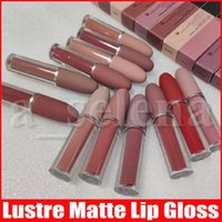 Wholesale long wear matte lipstick resale online - M Makeup color Lips Lustre Lip Gloss Matte liquid Lipstick natural long lasting waterproof lip cosmetics