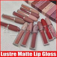Wholesale lipstick lasts resale online - M Makeup color Lips Lustre Lip Gloss Matte liquid Lipstick natural long lasting waterproof lip cosmetics