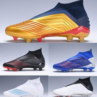 Wholesale boots football for kids for sale - Group buy Predator Children Football Boots FG Archetic Pogba Virtuso Outdoor Kids Youth Junior Soccer Cleats High tops For men and women