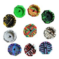"""Silicone Ashtray unbreakable soft rubber 4.5"""" Diamond Cut Circle Colorful Pattern Ashtrays Home Office Decoration DHL Free"""