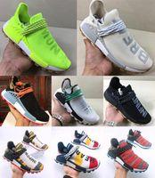 Wholesale shoes human race resale online - high quality new Human Race Men Women Casual Shoes Pharrell Williams Sample Yellow Core Black Sport Shoe Women Sneaker