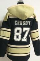 Wholesale new jersey hoodie resale online - 2016 New Mens Sidney Crosby Old Time Ice Hockey Hoodies Sweatshirt Jerseys Stitched Logos Hockey Hoodies