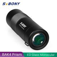 Svbony ED Glass Monocular Telescope Prisms FMC Lens Coating WaterProof HD Binoculars Birdwatching Hunting LJ201114
