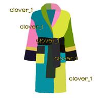 women bathrobe sleep robe unisex man cotton sleepwear night robe high quality bathrobe Brand designer robe breathable eleg klw1739