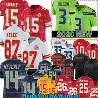Wholesale 15 Patrick Mahomes Jersey Le Veon Bell Jamal Adams Russell Wilson Kansas City Seattle Seahawks Chief DK Metcalf Travis Kelce