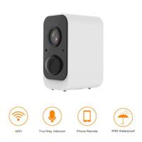 Wholesale camera rechargeable battery resale online - WiFi IP Camera Battery Rechargeable Powered Wireless Security WiFi Camera Surveillance IP66 Waterproof p Outdoor Indoor Cam