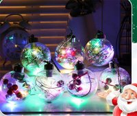 natal decorações idéias venda por atacado-Novas Idéias para 2020 Snowflake Transparente Celebration Christmas Ball Decoration Christmas Ball LED do Evento Detalhes no DB113