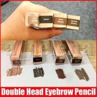 Hot Eyebrow Pencil Eyebrow Enhancer Eyebrow Makeup Skinny Brow Liner with brush double ended eye comestic tool 4 colors