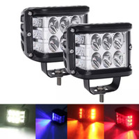 4 inch 45W Led Working Light Three Face White Amber Fog Warning Flash For Motorcycle SUV 4*4 ATV UTV BUS 12V 24V