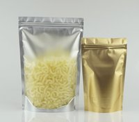 Wholesale zip bedding resale online - Coffeen Bean Mylar Plating Packing Pouch Zip Clip Seal Stand up Translucency Back Matte Gold Aluminum Foil Plastic Ziplock Bag