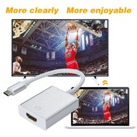 Wholesale china mobile tablets resale online - USB C Adapter Audio and Charger Type C to female HDMI cable HDTV hdmi Adapter for Mobile phone Tablets with type c function