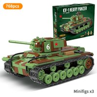 Wholesale weapon box resale online - KV World War II heavyweight tank tracking Soviet WW2 soldier Mini weapon construction army brigade children s toy box