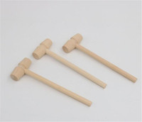 Mini Wooden Hammer Balls Pounder Replacement Wood Mallets Jewelry DIY Crafts