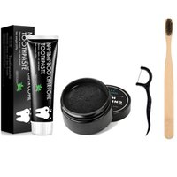 EPACK 100% Natural Organic Activated Charcoal Teeth Powder Toothpashe Set Remove Smoke Tea Coffee Yellow Stains Bad Breath