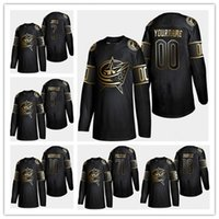 Wholesale foligno jersey resale online - Columbus Blue Jackets Jersey Golden Edition Seth Jones Nick Foligno Customize any number any name hockey jerseys