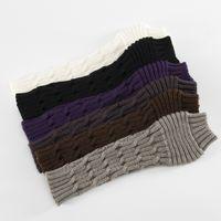 Wholesale arm warmers mittens resale online - Winter Women Wool Fingerless Long Gloves Knitted Twist Half Finger Mittens Girl Arm Warmer Party Favor RRA3754