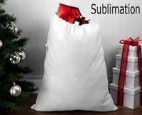 Wholesale kids christmas gift bags for sale - Group buy Christmas Sublimation Santa Sack Blank Large Santa Gift Bags Kids Personalized Christmas Gift Candy Bag Home Festival Supplies