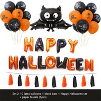 ingrosso cartone animato ragno-Decorazione Cartoon gatto zucca Spider fantasma Foil Palloncino gonfiabile Air Balloon Halloween per Happy Halloween Party