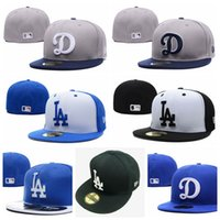 Wholesale hip hop mix resale online - Fashion HotTop quality woman and menLos Angeles fitted hats Dodgers Teams Logo outdoors sports cap Hip Hop Sports Hat Mixed Order