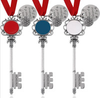 Wholesale christmas santa key resale online - New magic santa claus key christmas ornaments decorations christmas halloween gifts xmas new style factory price GWA1969