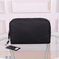Wholesale black leather travel cosmetic case for sale - Group buy Fashion makeup bag cosmetic bag for men Clutch for women big travel organizer storage wash bag make up women purse Cosmetic case