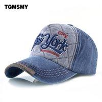 Wholesale green new york hat for sale - Group buy Cowboy wash hat men s sun proof cap women s Embroidered Hat New York baseball cap men s cotton hip hop bone cap