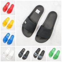 Wholesale men s flip flops resale online - Slippers s Men Women Rubber ss Luxury triple Designer Sandals Platform Fashion Beach Slide Flat D Comfortable Pool Sliders Flip Flops