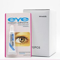 Wholesale eyes lashes glue resale online - Eyelash Adhesive g oz Eye Lash Glue Makeup Adhesive Waterproof False Eyelashes Adhesives Glue with packing Practical Eyelash Glue