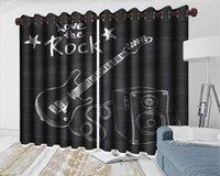 Wholesale beautiful hand guitar resale online - Custom d Curtain d Beautiful Bedroom Curtain Hand painted Simple Guitar d Digital Printing HD Practical Beautiful Curtains