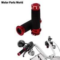Wholesale red motorcycle grips resale online - Motorcycle quot Red Handlebar Hand Grips mm Handle Bar Grips For XL Touring FLHR Dyna Low Rider FXDL FXD UP