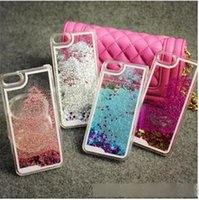Wholesale iphone 4s glitter phone case for sale – best New Quicksand Floating Glitter Star Running Hard Phone Case Cover For iphone plus s s Samsung galaxy S6 S5 note