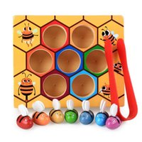 Wholesale clip boards for sale - Group buy Hive Board Games Montessori Entertainment Early Childhood Early Education Jigsaw Building Blocks Wooden Kids Clip Bee Toys Zxh sqcjFd