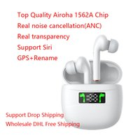 Wholesale white earphones android online – Noise Cancellation TWS Wireless Bluetooth Earphones Transparency Mode Earbuds Top Airoha Chip For IOS Android Phone DHL Free