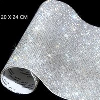 Wholesale crystal glass car for sale - Group buy 20 cm Self Adhesive Rhinestone Sticker Sheet Crystal Ribbon with Gum Diamond Sticks for DIY Decorations Car Phone Cases Cups BWA1768