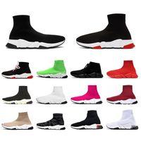 Wholesale sneaker boots for sale - Group buy 2020 Hot desinger sock sport shoes womens mens flat casual shoes tripler vintage Graffiti sneakers socks boots designer platform trainers
