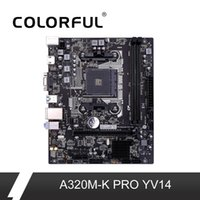 Wholesale Colorful A320M K PRO YV14 Motherboard AMD M ATX Ryzen Processors Gaming A320 Mainboard AM4 DDR4 For Socket USB3 SATA3 HDMI