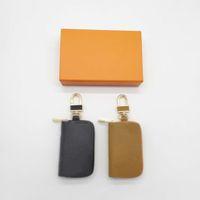 Fashion Key Buckle Bag Car Keychain Handmade Leather Keychains Man Woman Purse Bag Pendant Accessories 7 Color