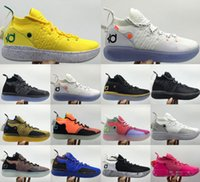 Wholesale kd shoes for sale - Group buy 2020 Size Mens Trainers KD EP White Orange Foam Pink Paranoid Oreo ICE Basketball Shoes Original Kevin Durant XI KD13 Sneakers