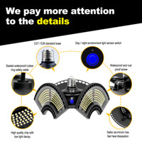 Discount E27 LED Deformable Folding Garage Lamp Super Bright Industrial Lighting 60W 80W 100W UFO High Bay Industrial Lamp for Warehouse