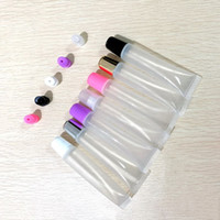Wholesale lip balm empty container tubes resale online - 10ml ml ml Empty Lipstick Tube Lip Balm Soft Hose Makeup Squeeze Sub bottling Clear Plastic Lip Gloss Container F606