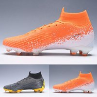 Wholesale youth high top soccer shoes for sale - Group buy Pack kids Euphoria soccer shoes High Top Superfly VI Elite FG chuteiras de futebol football Children Youth Boys cleats Boots Game Over