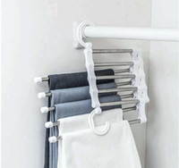 5 Layers Multi Functional Clothes Hangers Pant Storage Cloth Rack Trousers Hanging Shelf Non-slip Clothing Organize sqcQhI sports2010